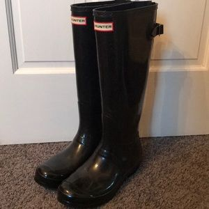 Black Hunter Boots (Wide Calf)